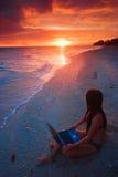 någonstans paradisarbete Fotografering för Bildbyråer