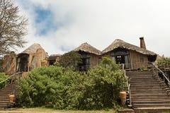 Ngorongoro火山口小屋 免版税库存照片