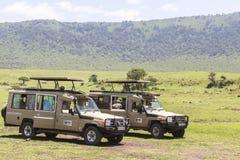 ngorongoro火山口的湖Makat在坦桑尼亚 图库摄影