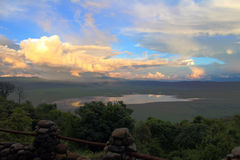 Ngorongoro火山口 免版税库存图片