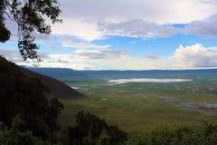 Ngorongoro火山口 免版税库存照片