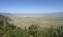 Ngorongoro Conservation Area in Africa Stock Photography