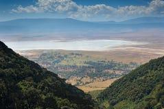 Ngorongoro Conservation Area landscape. Landscape of the Ngorongoro Conservation Area from the crater rim Royalty Free Stock Photo