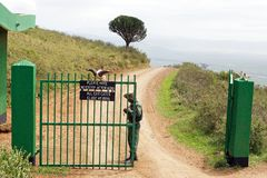 Ngorongoro Crater gate Stock Photos