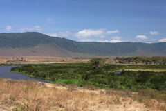 Ngorongoro crater landscape Royalty Free Stock Image