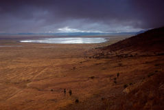 Ngorongoro crater landscape Royalty Free Stock Images