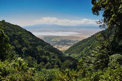 Ngorongoro crater landscape Stock Photos