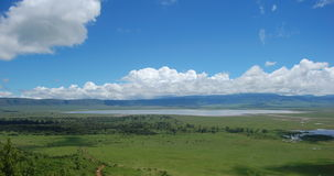 Ngorongoro crater in tanzania. A photo of the ngorongoro crater in tanzania, amazing landscape Royalty Free Stock Photo