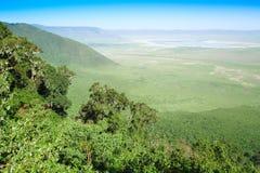 Ngorongoro crater. In Tanzania Africa Royalty Free Stock Photo