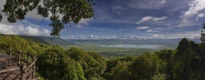 Ngorongoro Crater View. Scenic view from the Ngorongoro Crater, Tanzania, Africa royalty free stock photo