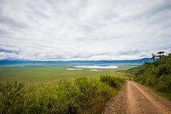 Ngorongoro entrence Stock Photo
