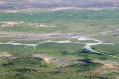 Ngorongoro krater od obręcza fotografia royalty free