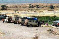 Ngorongoro parking Royalty Free Stock Images