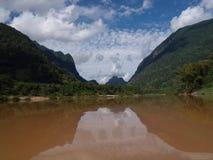 Ngoy Nua i Laos Arkivbilder