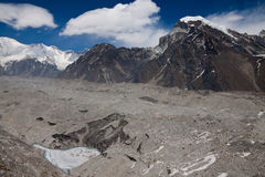 Ngozumba glacier near Gokyo village. Himalayas. Nepal Stock Photography