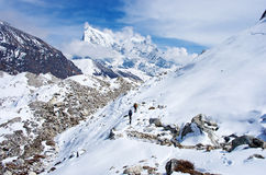 Ngozumba Glacier, Sagarmatha National Park, Nepal Royalty Free Stock Photo