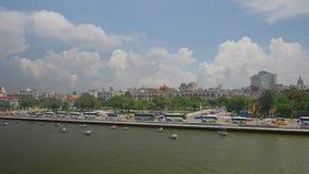 Ângulo alto Dolly Establishing Shot larga de Havana Cuba Skyline vídeos de arquivo