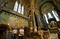 Ângulo largo de Lyon Notre Dame Cathedral foto de stock royalty free