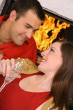 Ângulo romântico dos pares Fotos de Stock Royalty Free