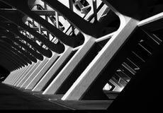 Ângulos preto e branco na estrutura Imagem de Stock