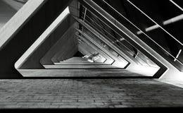 Ângulos preto e branco na parte 2 da estrutura Foto de Stock