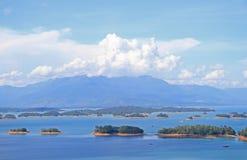 Ngum Nam Reservoir in Laos Royalty-vrije Stock Foto's