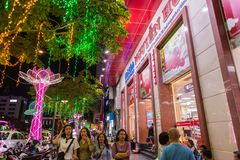 Nguyen Hue Street, Ho Chi Minh City stock images