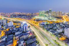 Nguyen Huu Canh and Dien Bien Phu street of Ho Chi Minh city Stock Photography