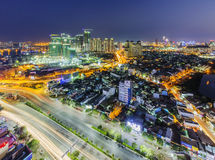 Nguyen Huu Canh and Dien Bien Phu street of Ho Chi Minh city Stock Images