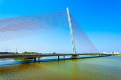Nguyen Van Troi Tran bridge. Cau Nguyen Van Troi Tran Thi Ly Bridge is a bridge spanning the Han River in Danang city in Vietnam royalty free stock photography