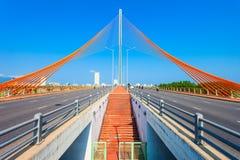 Nguyen Van Troi Tran bridge. Cau Nguyen Van Troi Tran Thi Ly Bridge is a bridge spanning the Han River in Danang city in Vietnam stock image