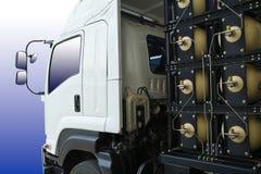 NGV Behälter für LKW Stockfoto