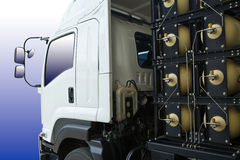 NGV containers for truck. NGV GAS CONTAINERS FOR HEAVY TRUCK Stock Photo