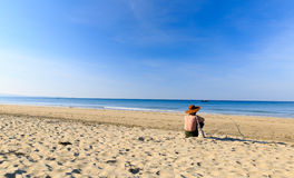 Ngwe Saung Beach Royalty Free Stock Images