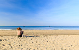 Ngwe Saung Beach Royalty Free Stock Image