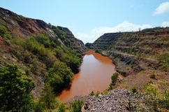 Ngwenya铁矿山,斯威士兰 免版税图库摄影