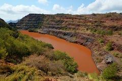 Ngwenya rudy żelaza kopalnia, Swaziland Fotografia Royalty Free