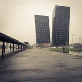 NH访客的旅馆大厦在HOMI,家国际展示之外在米兰,意大利 免版税库存图片