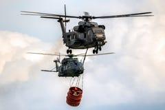 NH90 CH-53直升机bambi桶 免版税库存照片