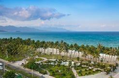 海滩在Nha Trang,越南 免版税图库摄影