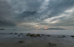 Nha Trang Bay Moody Morning Sky Vietnam Royalty Free Stock Images