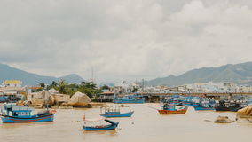 Nha Trang Bay with ships and boats. Central Vietnam. Nha Trang city panorama. Bay with ships and boats. Central Vietnam. Nha Trang city panorama. Shot in 4K stock video