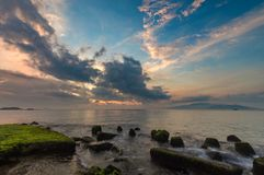 Nha Trang Bay Sunrise Sky Vietnam Stock Photography