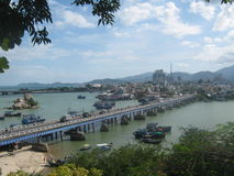 Nha Trang bridge. This is the longest and nicest bridge in Nha Trang city, Viet Nam Stock Images