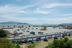 Nha trang bridges Stock Photography