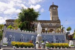 Nha Trang Cathedral. The beautiful cathedra in Nha Trang, Vietnam.Built between 1928 and 1933 in French Gothic style stock photography