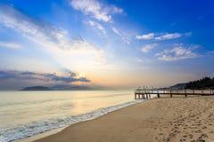 Nha Trang City Beach, Early Morning Royalty Free Stock Image