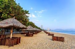 Nha Trang City Beach, Early Morning Stock Photos