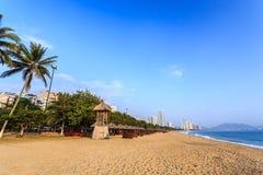 Nha Trang City Beach, Early Morning Royalty Free Stock Photos