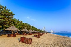 Nha Trang City Beach, Early Morning Royalty Free Stock Images